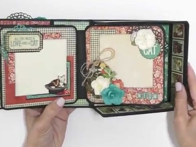 Boxed Mini Album Using Graphic 45's Raining Cats and Dogs