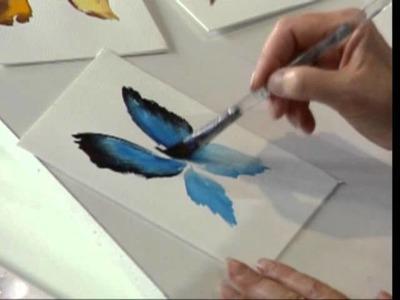 Butterflies using Watercolors by Susan Scheewe video by ArtistSupplySource.com