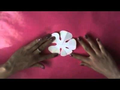 -C-mo hacer flores de papel PERFECTAS- - YouTube_2