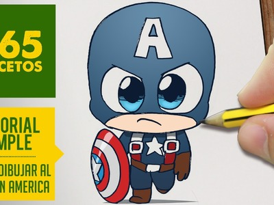 COMO DIBUJAR CAPITAN AMERICA KAWAII PASO A PASO - Kawaii facil - How to draw Captain America