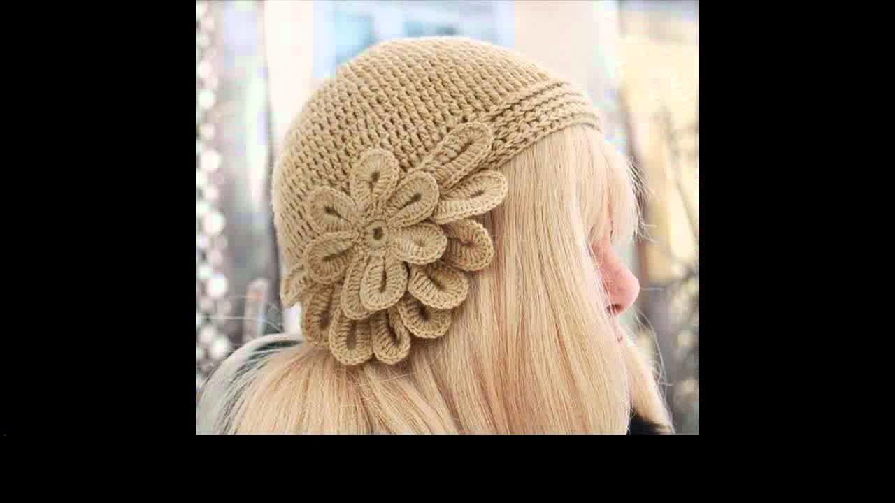 Crochet flower for hat