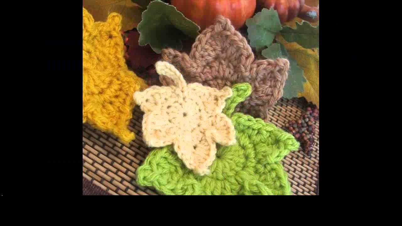 Crochet leaf tutorial