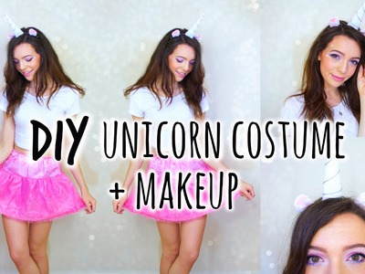 Cute and Easy Unicorn Costume + Makeup !