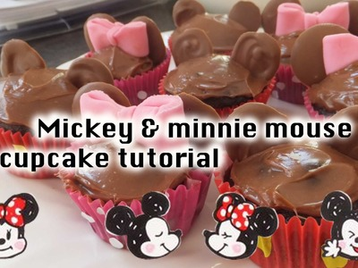 Cute Cooking #2 [Mickey and Minnie mouse cupcakes]
