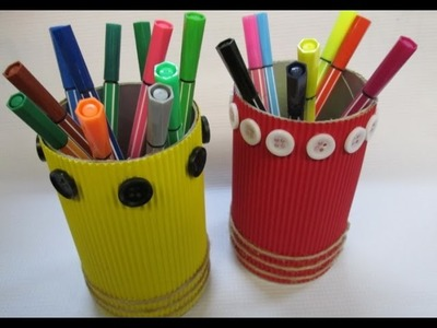 DIY : #37 Pencil Holder From RECYCLED Snack Can ♥