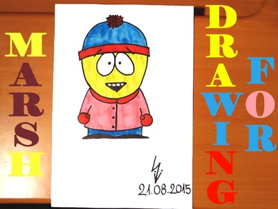 DIY How to draw STAN MARSH from SOUTH PARK characters Easy, draw easy stuff but cool, SPEED ART
