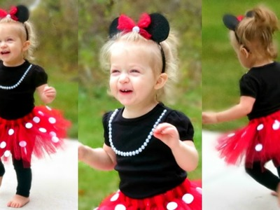 DIY Minnie Mouse Costume for Toddlers   Lacey's Halloween Outfit!!
