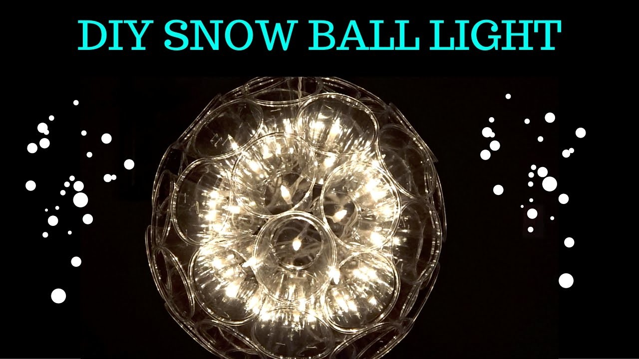 DIY Snow Ball Light