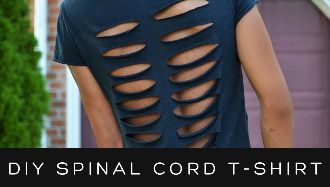 DIY SPINAL CORD CUT-OUT SHIRT   victoralexanderco