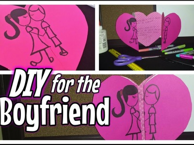 DIY: Valentine's Card For the Boyfriend.GirlFriend