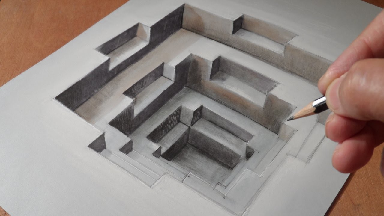 Drawing a 3D Hole, Trompe-l'oeil