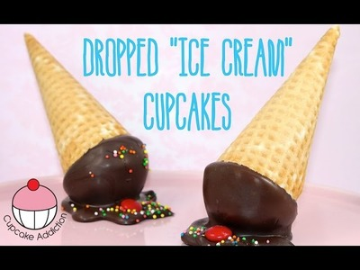 Dropped Ice Cream Pinata Cupcakes by Cupcake Addiction