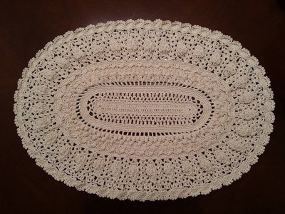 Elegant Oval Doily Part 5