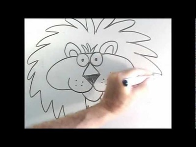 How to draw a Cartoon Lion, Elephant, Buffalo, Leopard and Rhino, cartooning for kids. .