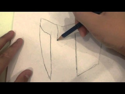 How to draw a Spartan helmet