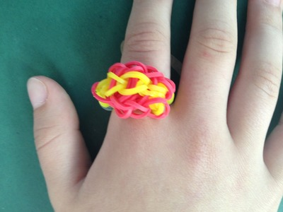 HOW TO: MAKE A RAINBOW LOOM RING, TRIPLE SINGLE. EASY!