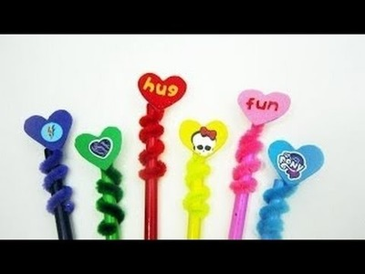 How to make heart pencil toppers - EP