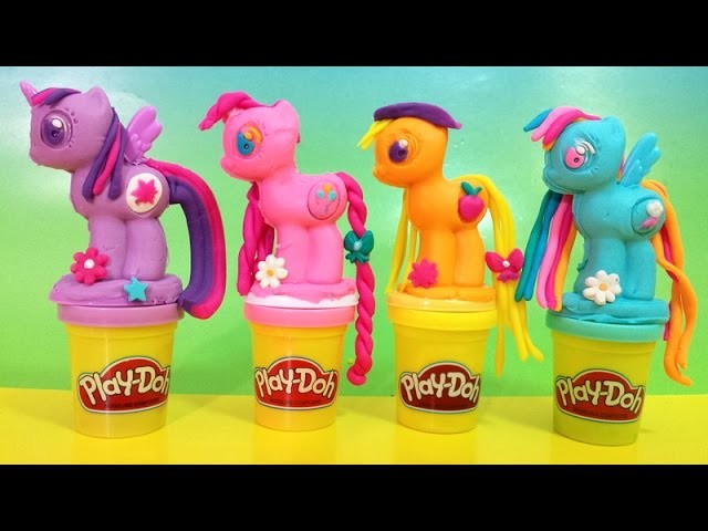 New Play Doh My Little Pony Make 'n Style Ponies Rainbow Dash, Twilight Sparkle, Pinkie Pie 2015 MLP