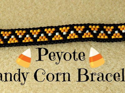 Odd Count Peyote Candy Corn Bead Weaving Bracelet Tutorial!¦ The Corner of Craft