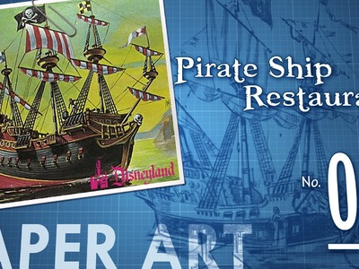Paper Art: Pirate Ship Restaurant—No. 01