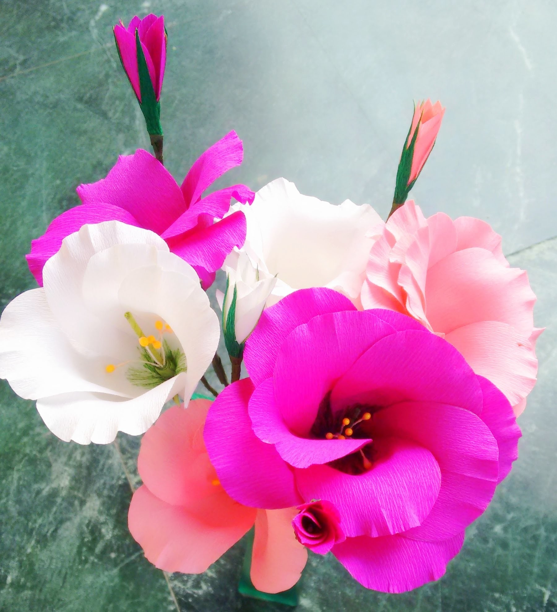 Paper flowers - Eustoma. Lisianthus - Single & Double