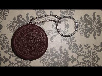Polymer Clay Oreo Cookie Keychain