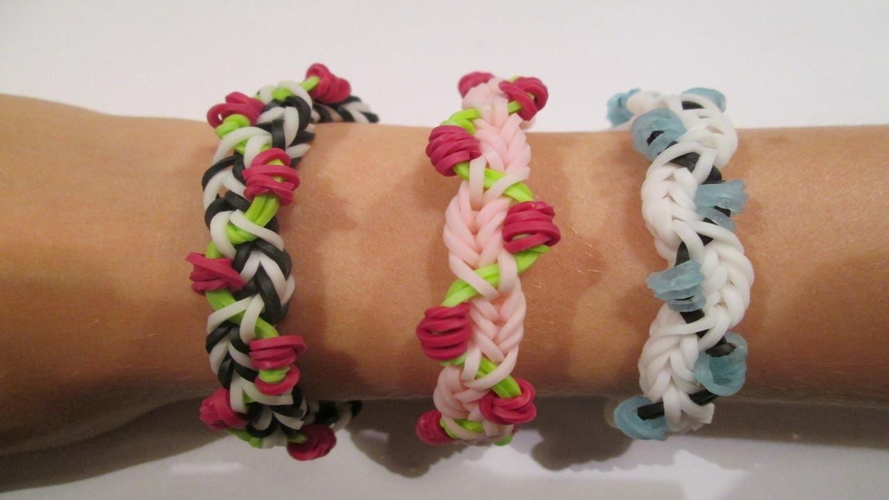 Rainbow Loom- Petite Fleur Bracelet (Original Design)