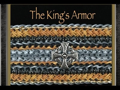 Rainbow Loom The King's Armor Tutorial How To