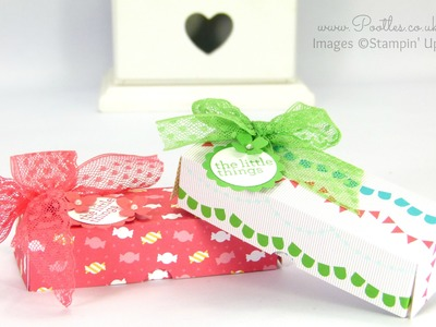Stampin' Up! Cherry On Top Sweetie Treat Box Tutorial