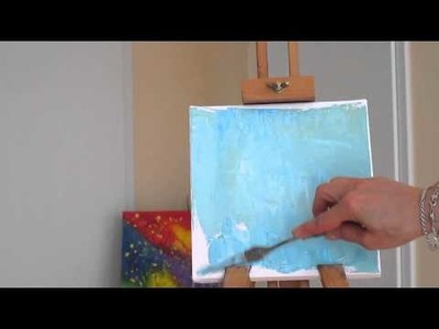 Tanja Bell How to Paint Flowers Poppies Tutorial Palette Knife Painting Technique Lesson Demo Part 1