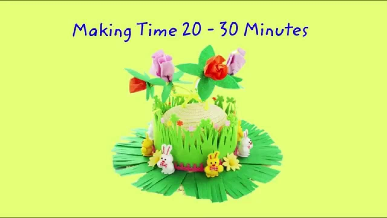 The Works Tutorials | How to make a Spring In Bloom Easter Bonnet from The Works