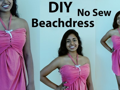 Turn T-shirt to Beach Dress (NO Sew!) DIY