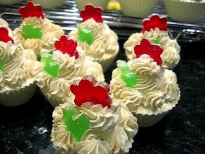 Almond Ice or Frost Christmas Cupcake Soaps 001
