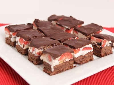 Brownie Ice Cream Bars Recipe - Laura Vitale - Laura in the Kitchen Episode 628