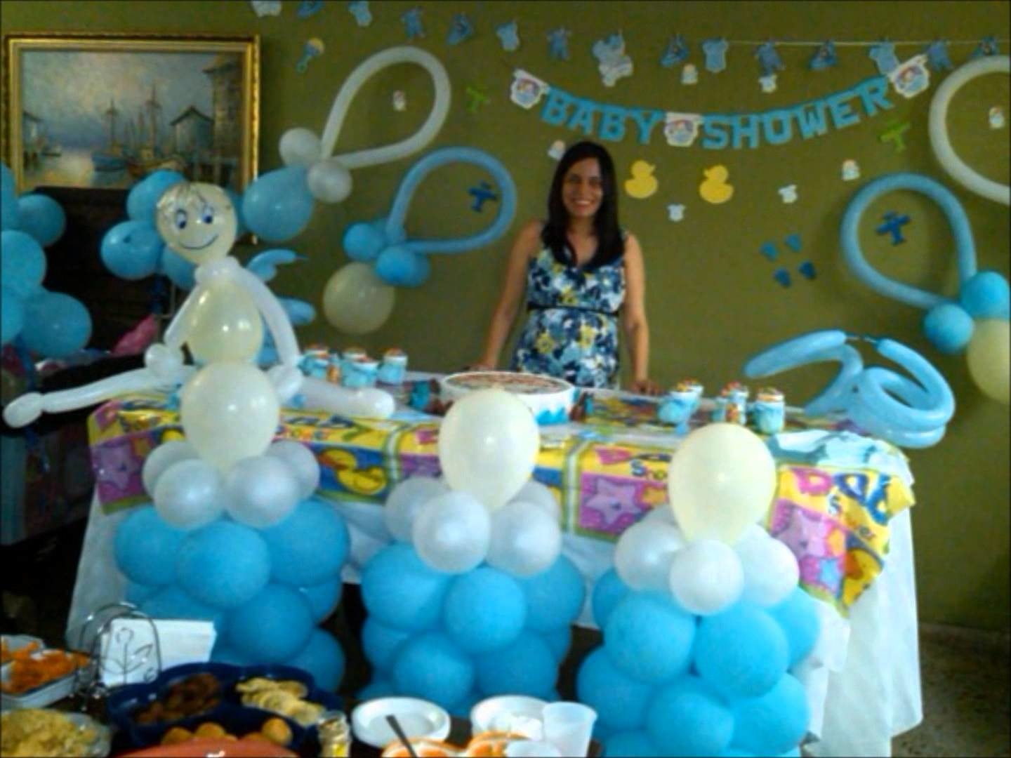Decoracion Baby Shower - Baby shower balloon decoration