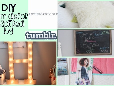 DIY Anthropologie & Tumblr ROOM DECOR + Room Update