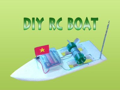 [DIY] How To Make Paddle Boats 2 wheeled remote control, DIY RC BOAT