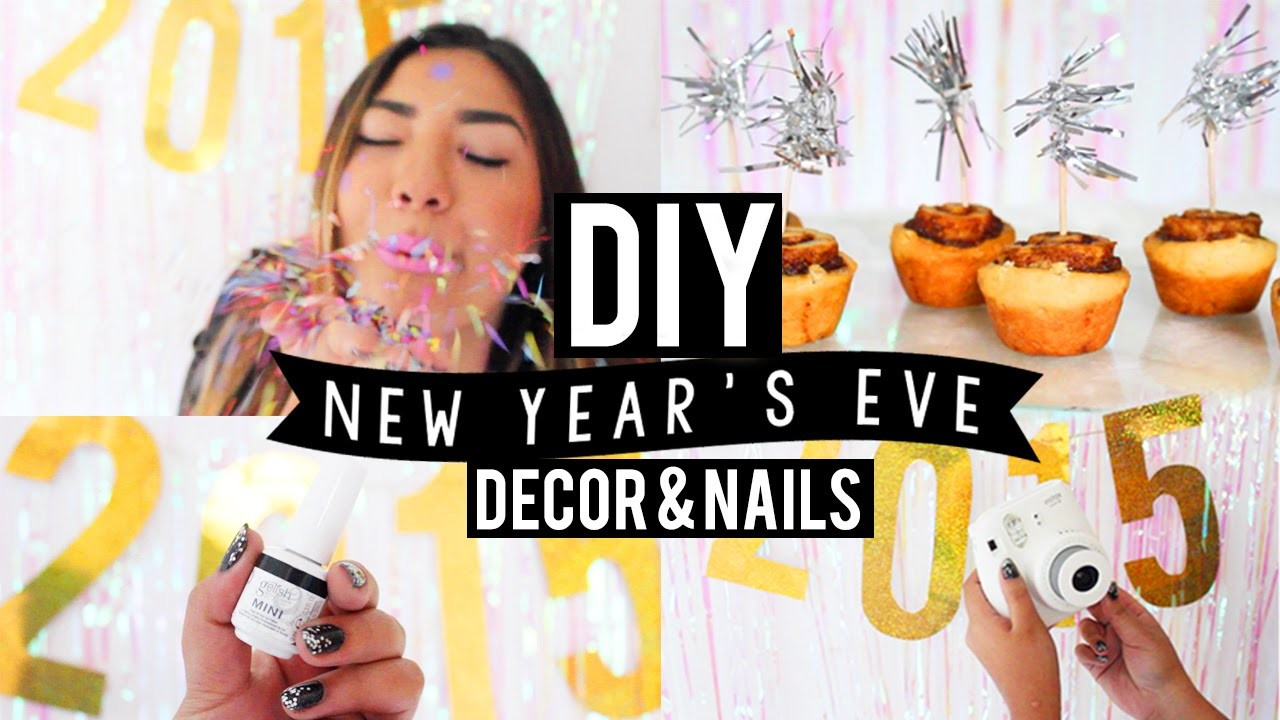 DIY New Year's Eve Party Decor + Glitter Nails