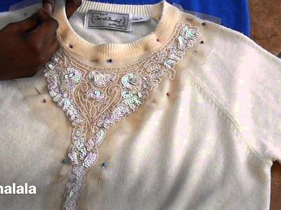 DIY Sequin Sweater Top