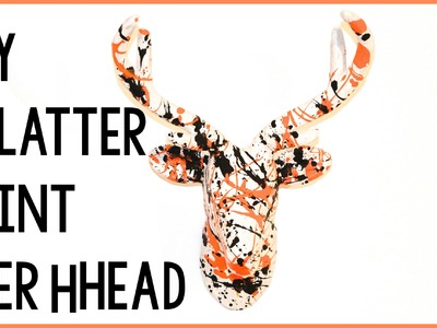 DIY Splatter Paint Deer Head