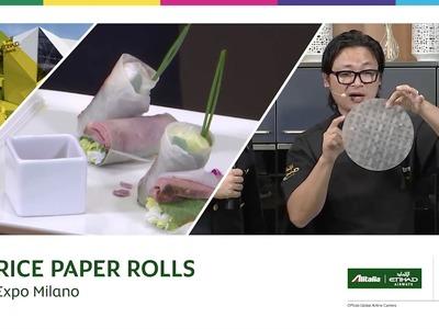 EXPO Milano 2015 | Luke Nguyen - How-to make smoked duck rice paper rolls