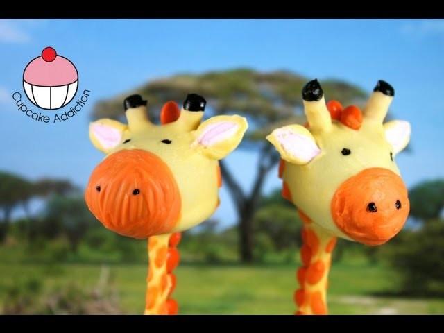 Giraffe Cakepops! Make Jungle Safari Cakepops - A Cupcake Addiction how To Tutorial