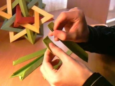 How-to fold a Five Intersecting Tetrahedra Dodecahedron 1