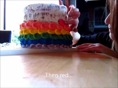 How to ice a Rainbow Cake
