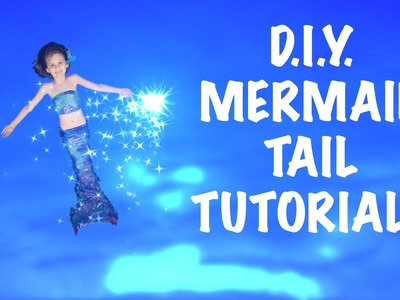 How to make a DIY Swimmable Mermaid Tail! Inexpensive - NO SEW! Kids Birthday or Christmas gift!