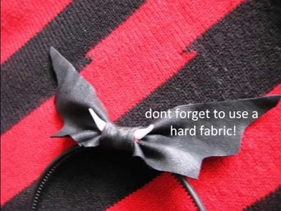 How to make a Gothic Bat headband