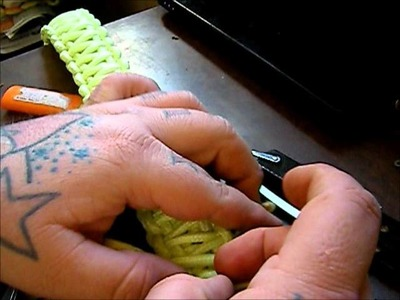 How to make a King Cobra braid paracord bracelet keychain or gun sling DIY survival