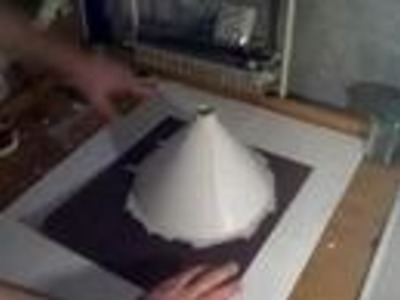 How to make a volcano -the improved no mache or plaster way