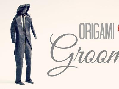 How to make an Origami Groom. Wedding (Tadashi Mori)