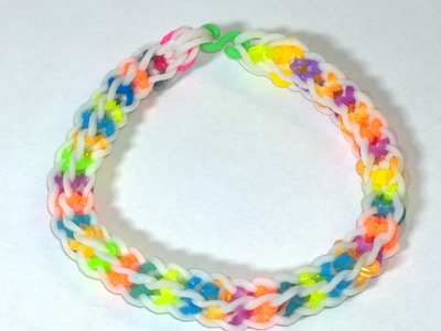 How to Make EASY Boxed Bow Bracelet With Two Forks No Rainbow Loom Need! DIY.